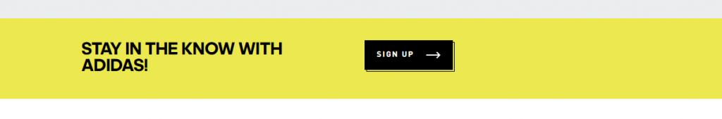 Newsletter call-to-action adidas