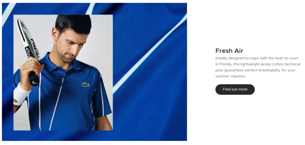Lacoste using the persuasion principle reciprocity with Novak Djokovic
