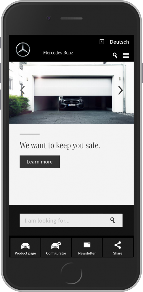 Mercedes-Benz landing page