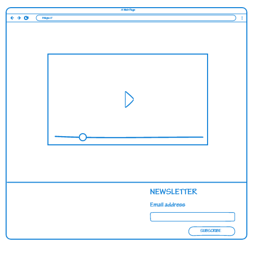 Newsletter sign-up footer