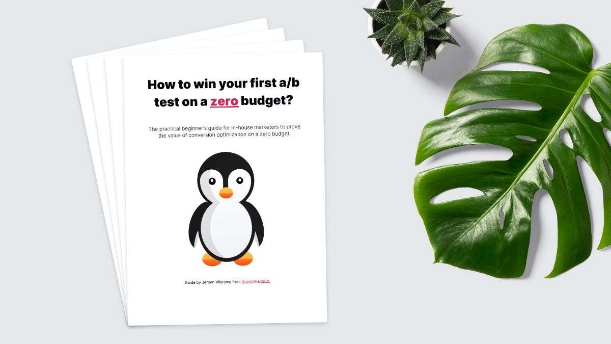 How to win your first a/b test on a zero budget?